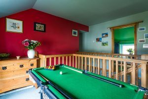 The Hallway with Pool Table